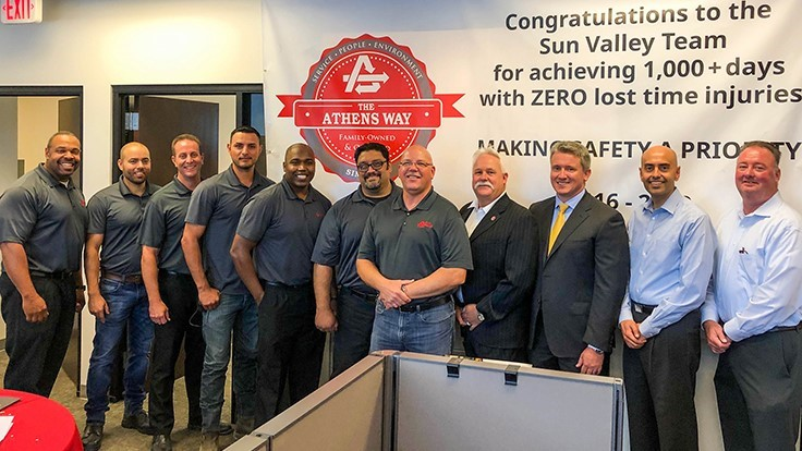 Athens Services celebrates safety record at Sun Valley MRF