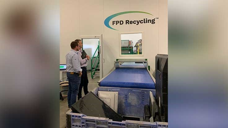 FPD Recycling debuts robotic depollution machine