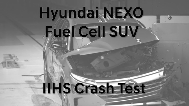 Hyundai NEXO fuel cell vehicle aces crash testing (Video)
