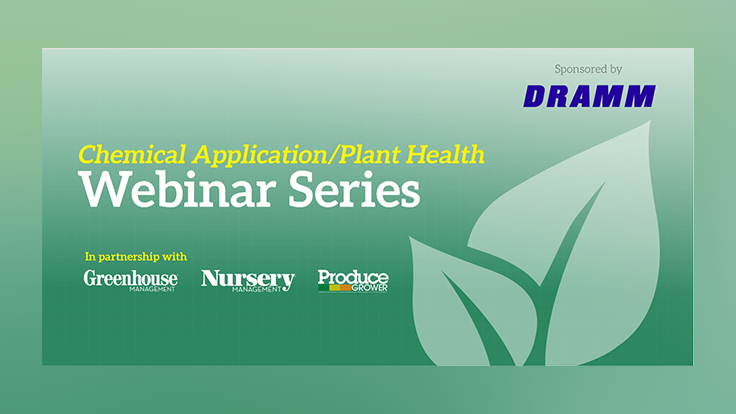 Register now for the Dramm chemical application and plant health webinar