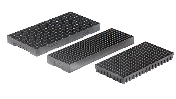 Leading propagation trays in different sizes