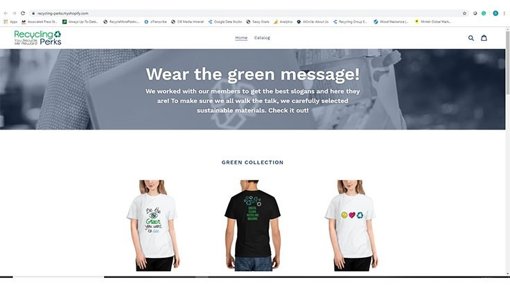 Verde launches store with Recycling Perks member T-shirt slogans