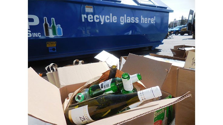 PRC pop-up recycling events divert 170 tons of glass from landfills