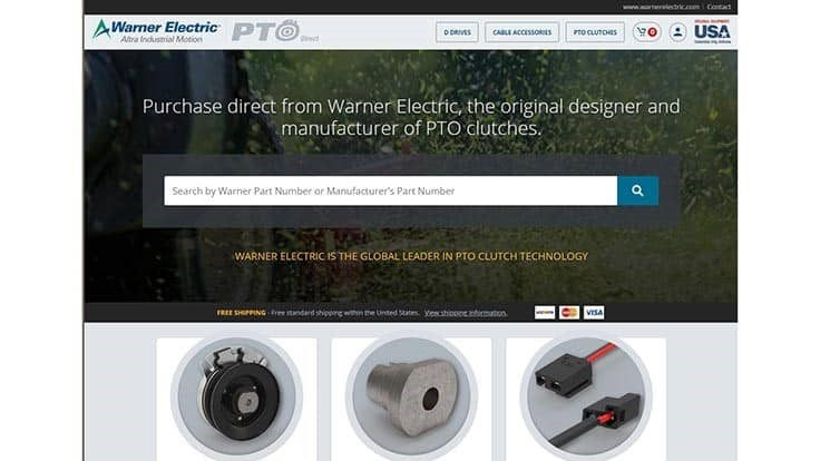 Warner Electric launches part ordering site for lawn equipment
