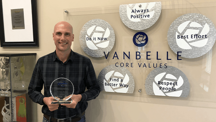 Van Belle Nursery honored by Abbotsford Chamber of Commerce for corporate social responsibility