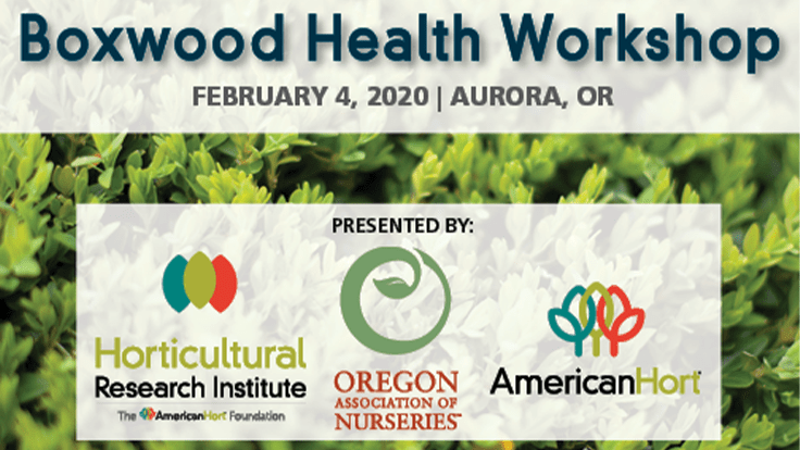 Enroll now in the boxwood health workshop from HRI and OAN