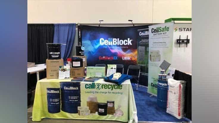 Call2Recycle partners with CellBlock Fire Containment Systems