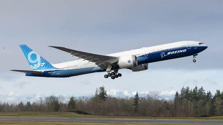 Boeing 777X completes first test flight