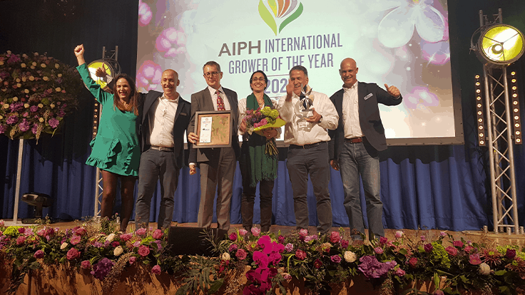 Danziger wins bronze at AIPH International Grower of the Year Awards