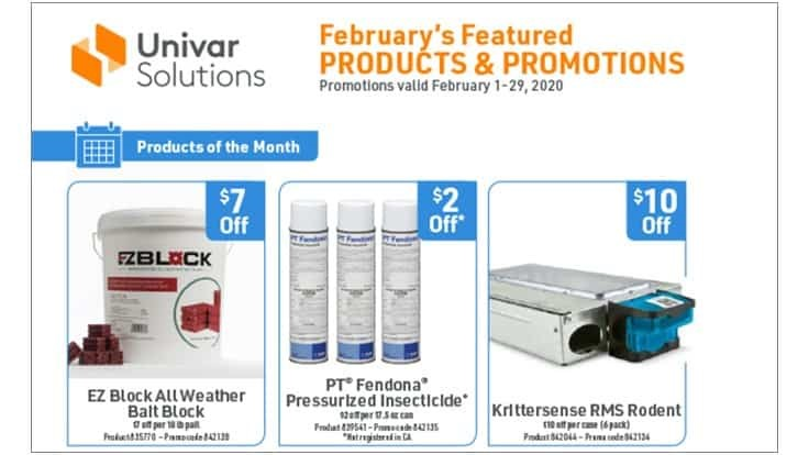 Univar Solutions Announces February Products of the Month