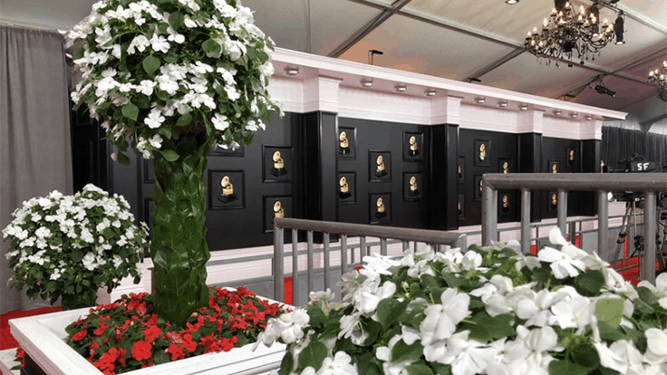 Beacon Impatiens floral design featured at the 2020 Grammy Awards