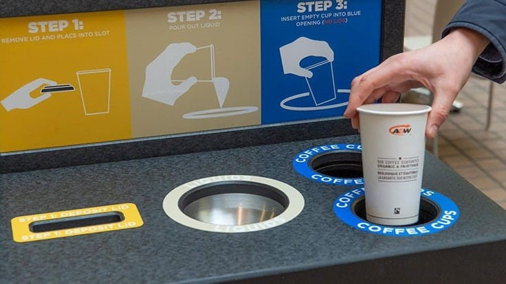 British Columbia to pilot coffee cup recycling in commercial, public buildings