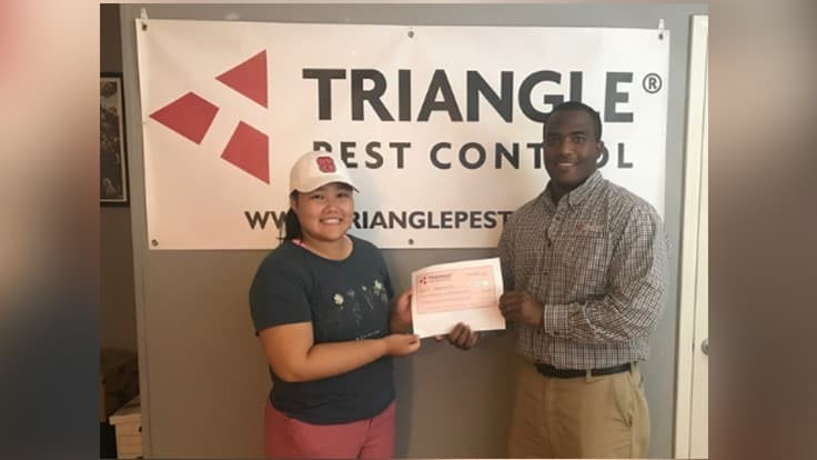 North Carolina State University Student Awarded Scholarship from Triangle Pest Control