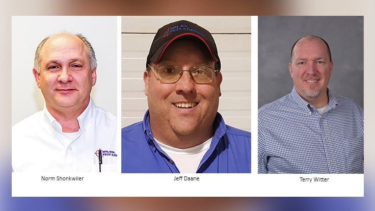 Three Wil-Kil Pest Control Professionals Earn ACE Designation