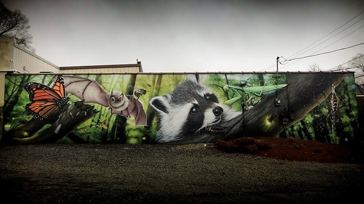 PMi Transforms Greensboro Building with 60-Foot Graffiti Mural