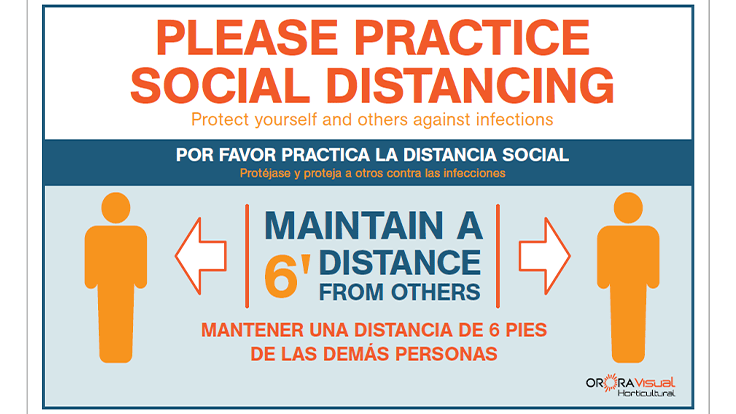 Free, downloadable social distancing signs now available