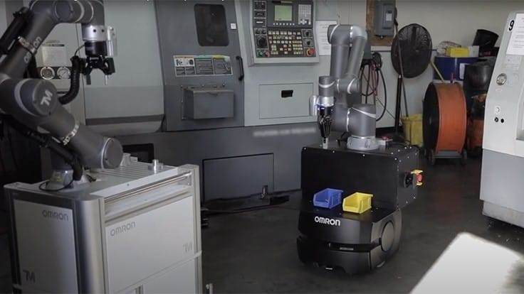 Omron's TM cobot automated machine tending (video)