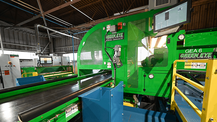 Winters Bros.' new Green Eye optical sorter does it all