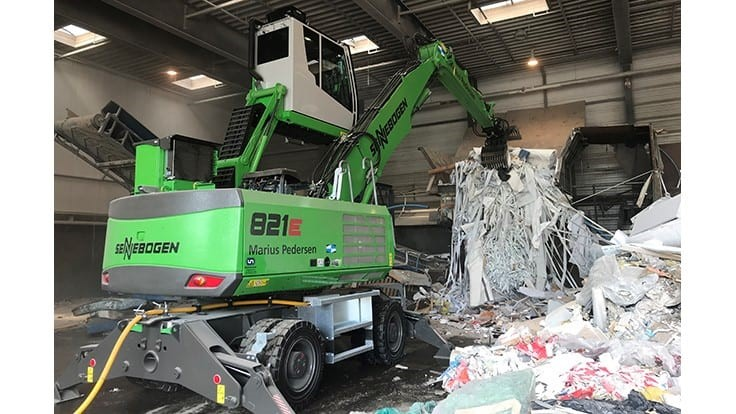 Sennebogen electric handler finds home in Denmark