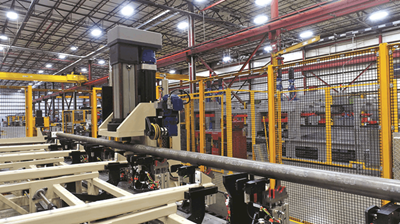 Coldwater Machine's automated tube/bar straightening system