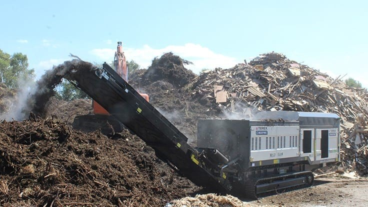 Terex Ecotec introduces the TSS 390 single-shaft shredder