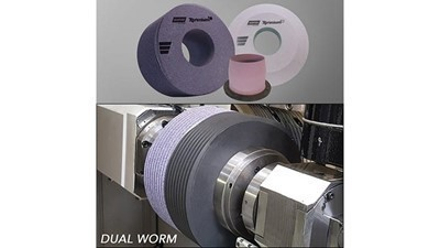 Dual-worm grinding wheels