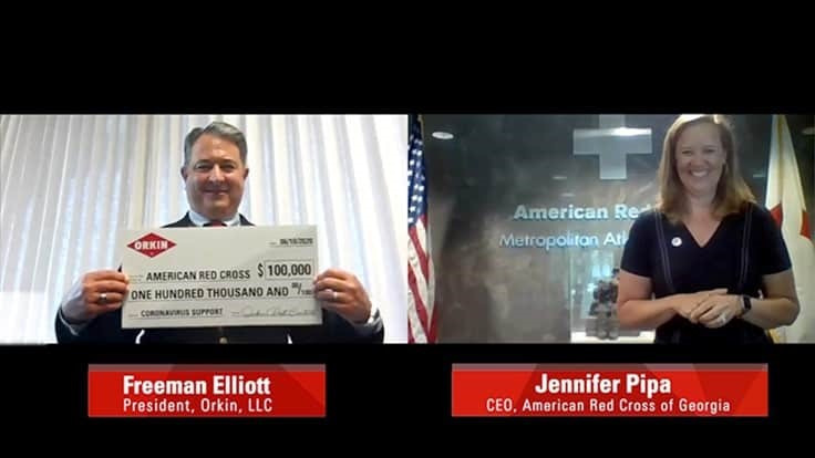 Orkin Donates $100,000 to American Red Cross via Virtual Check Presentation