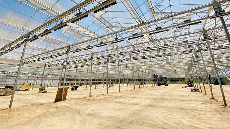 Revolution Farms adding two acres of greenhouse space