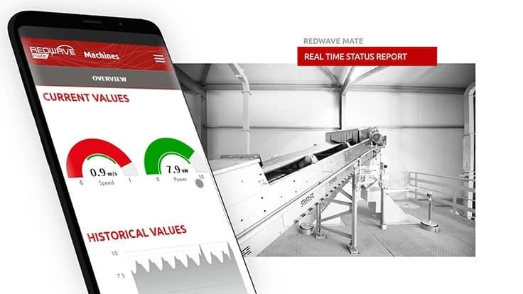 Redwave Mate measures quality and analyzes production information
