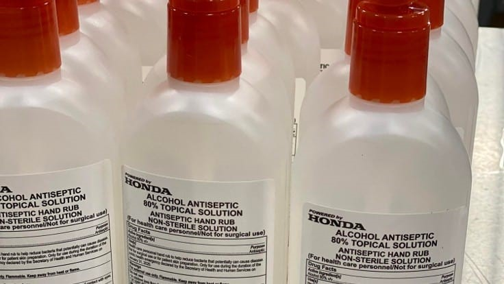 Honda, GM partner to produce hand sanitizer