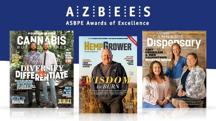 GIE Media's Cannabis Business Times, Cannabis Dispensary and Hemp Grower Magazines Earn National, Regional Awards from American Society of Business Publication Editors