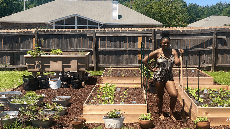 Meet Jasmine Jefferson, founder of Black Girls With Gardens