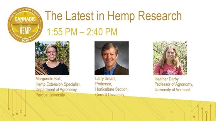 University Projects Detailed in Hemp Virtual Conference on June 23