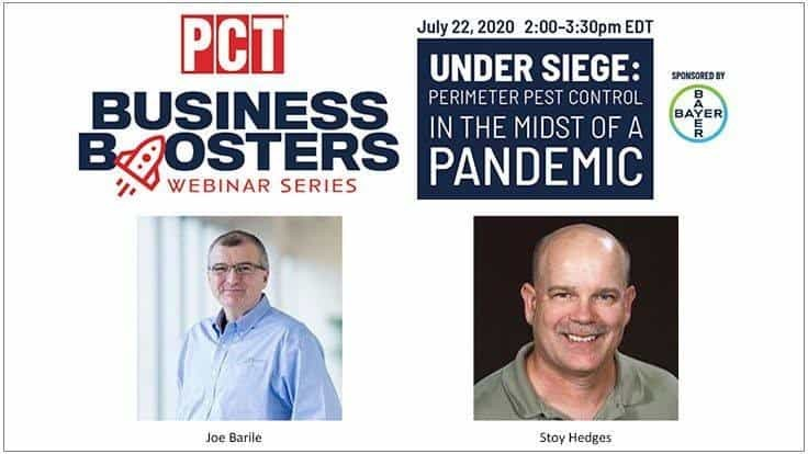 Perimeter Pest Control in the Midst of a Pandemic Business Boosters Webinar is Wednesday