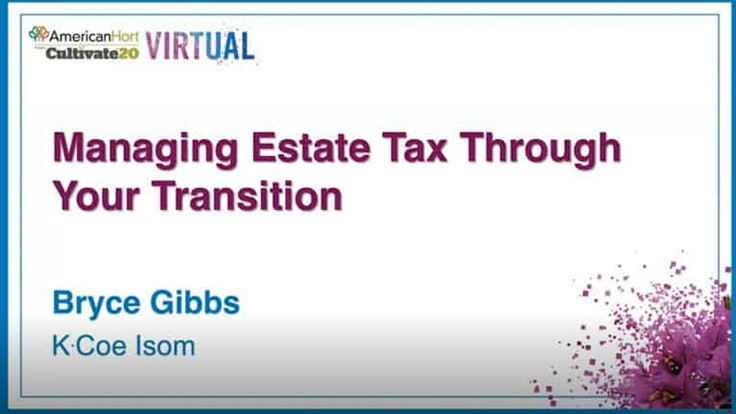 Managing your estate taxes