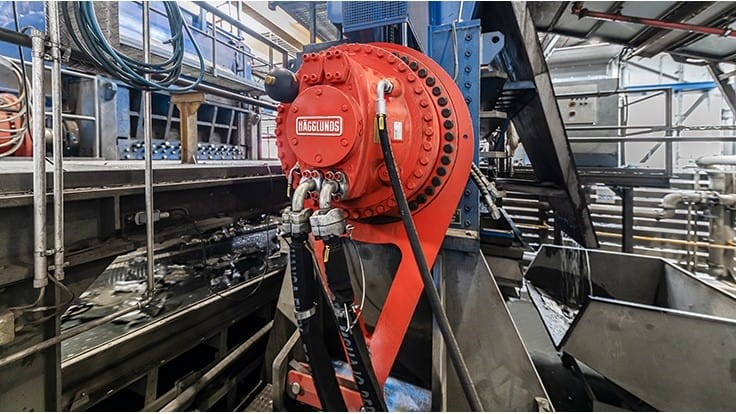Hägglunds equipment drives tire recycler's operations