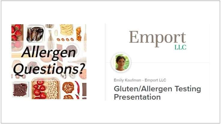Emport Announces Web Presentation on Gluten/Allergen Testing