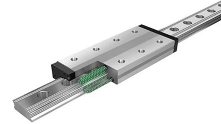 Caged ball linear motion guide