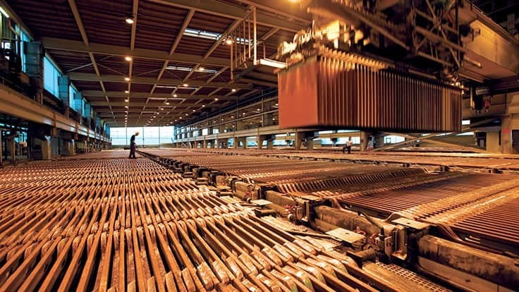 China brings in record amounts of copper cathode