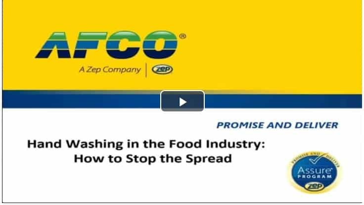 Webinar: Hand Washing in the Food Industry - How to Stop the Spread
