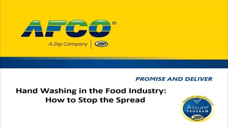 Handwashing in the Food Industry: How to Stop the Spread
