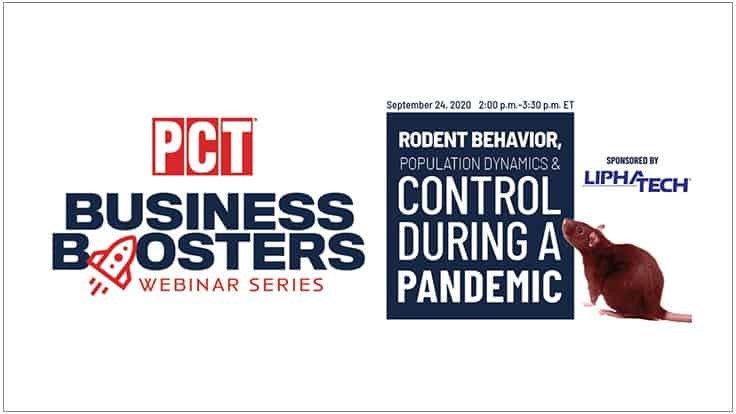 Upcoming Business Booster Webinar: Rodent Behavior, Population Dynamics and Control During a Pandemic