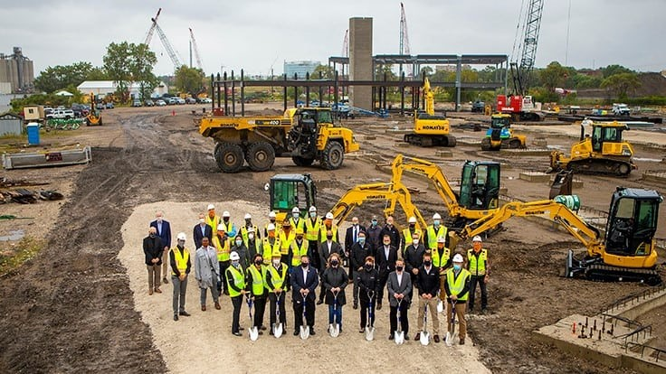 Komatsu breaks ground on new headquarters