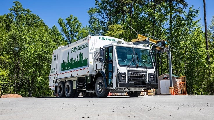 First Mack Trucks LR Electric model begins service with DSNY