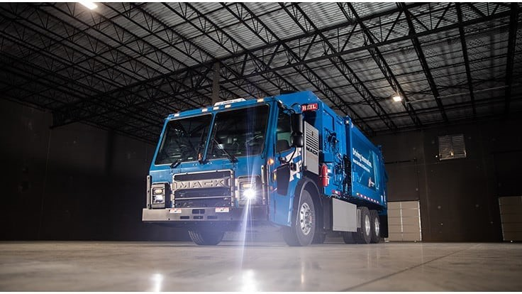 Mack electric truck delivered to Republic Services