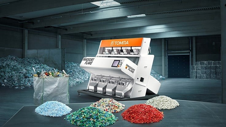Tomra AutoSort combination targets clean plastic flakes