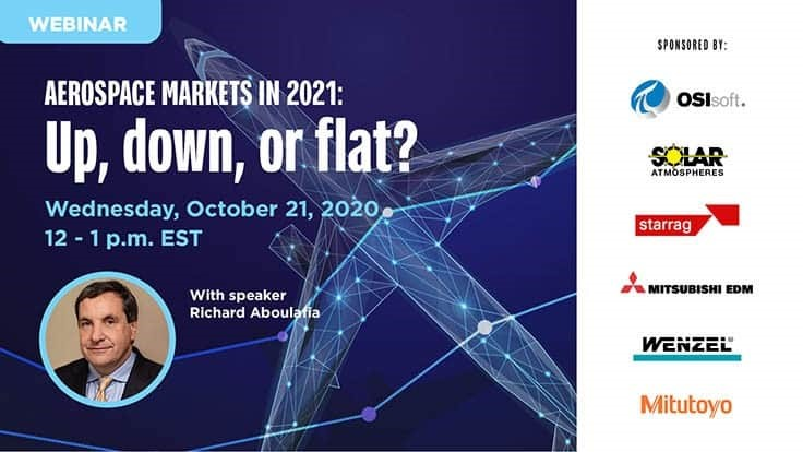 Free webinar: Aerospace markets in 2021: Up, down, or flat?