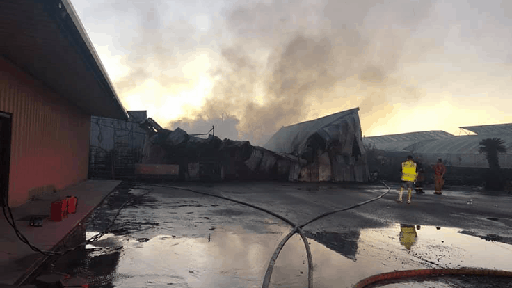 Fire reported at Dupont Nursery warehouse