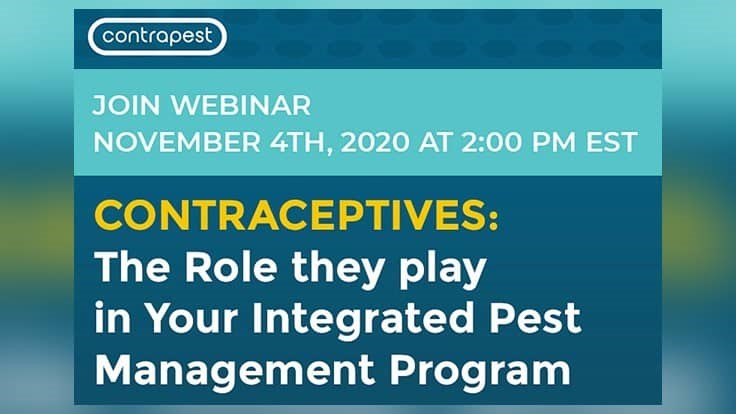 Upcoming Webinar: Contraceptives and the Role They Play in Your IPM Program