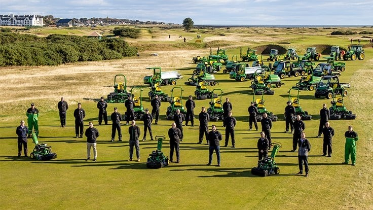 Carnoustie Golf Links announces partnership with Rain Bird and John Deere